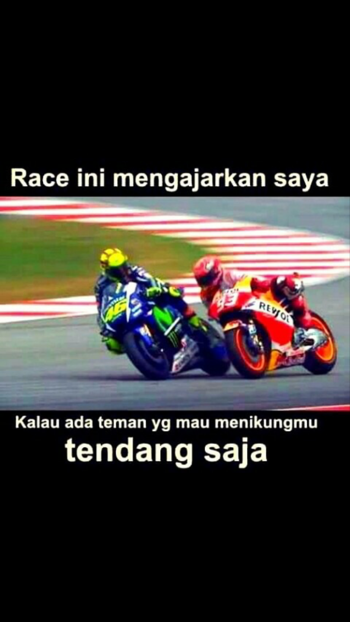 Clash Of Rossi Vs Marquez Dalam Gambar Ride Alone